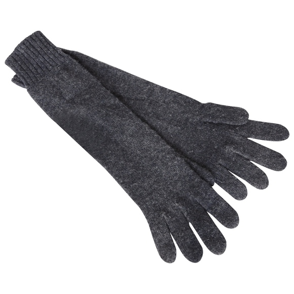 Hermes Ladies Cashmere Wool Gloves Gris Charcoal